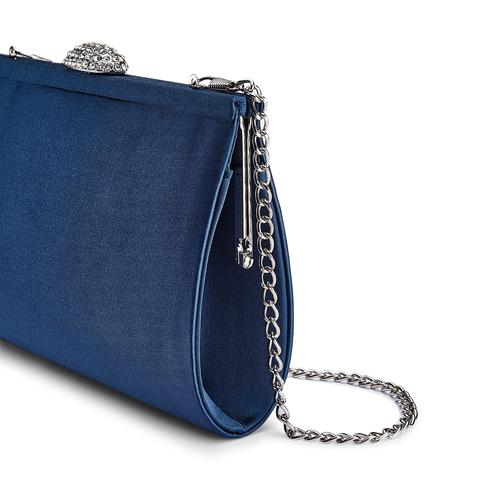 Pochette con tracolla bata, blu, 969-9320 - 15
