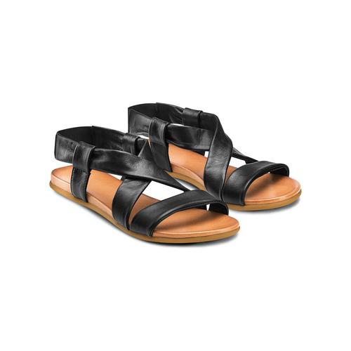 Sandali in pelle bata, nero, 564-6443 - 16