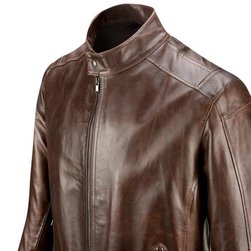 Giacca in pelle bata, marrone, 974-4134 - 15