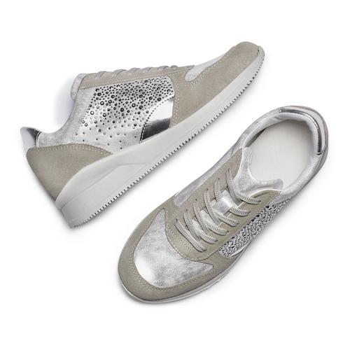 Sneakers Casual bata, grigio, 523-2459 - 26