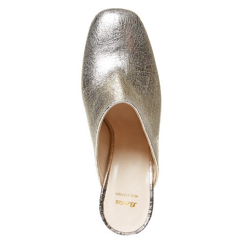 Slip-on in pelle da donna bata, giallo, 764-8689 - 15