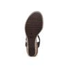 Sandali con zeppa bata, nero, 761-6312 - 19