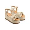 Sandali con fiocco bata, beige, 763-3271 - 16