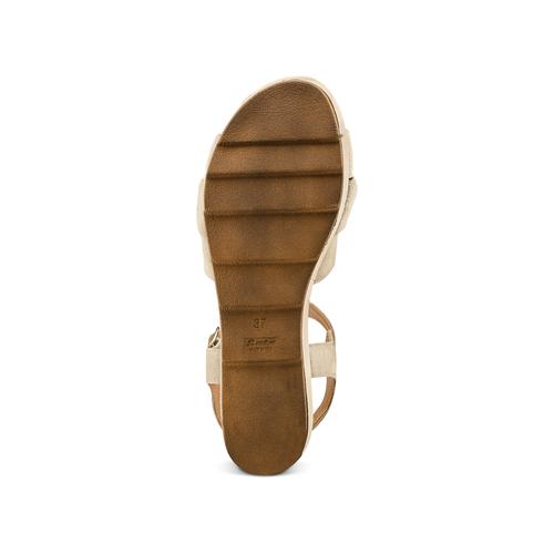 Sandali con fiocco bata, beige, 763-3271 - 19