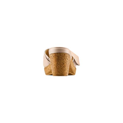 Ciabatte con tacco bata-touch-me, beige, 664-8303 - 15