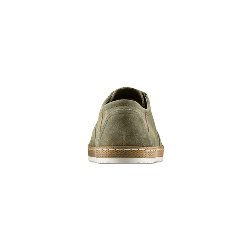 Stringate in suede bata, verde, 853-7201 - 15