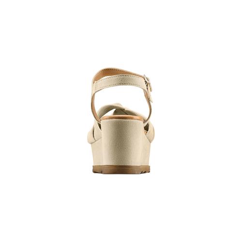 Sandali con fiocco bata, marrone, 763-3271 - 15