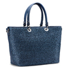 Shopper in rafia bata, blu, 969-9297 - 13