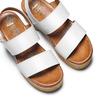 Sandali zeppa effetto legno bata, bianco, 664-1369 - 26
