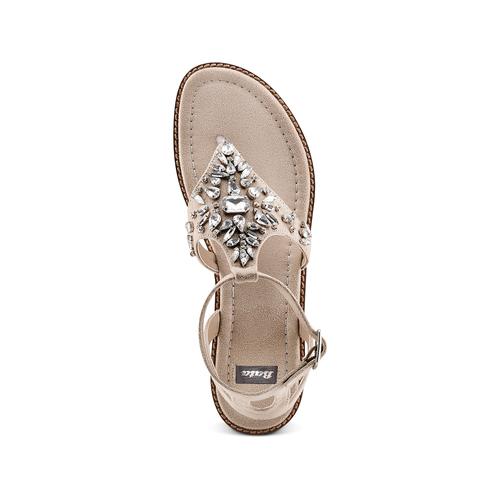 Sandali infradito bata, beige, 569-8205 - 17