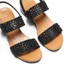Sandali con strass bata, nero, 669-6280 - 26