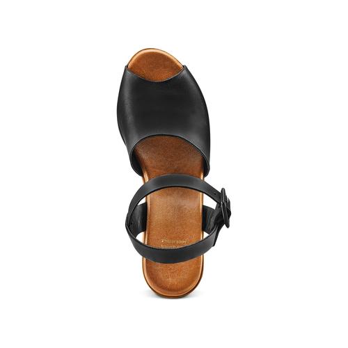 Sandali con tacco largo bata, nero, 764-6437 - 17