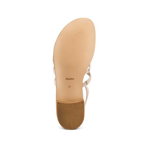 Sandali con perline bata, beige, 569-8206 - 19