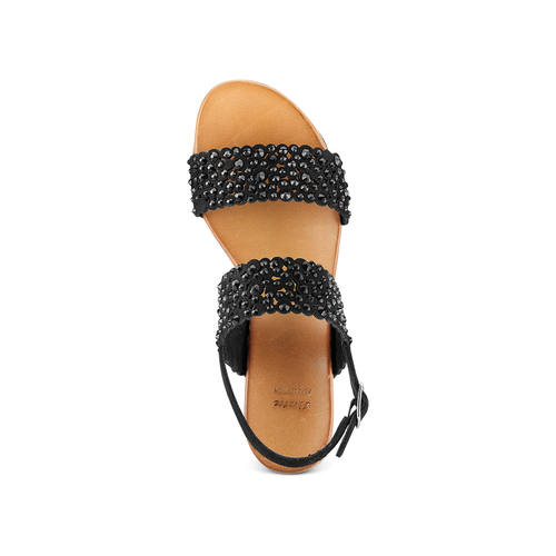 Sandali con strass bata, nero, 669-6280 - 17