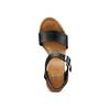 Sandali con zeppa bata, nero, 764-6435 - 17