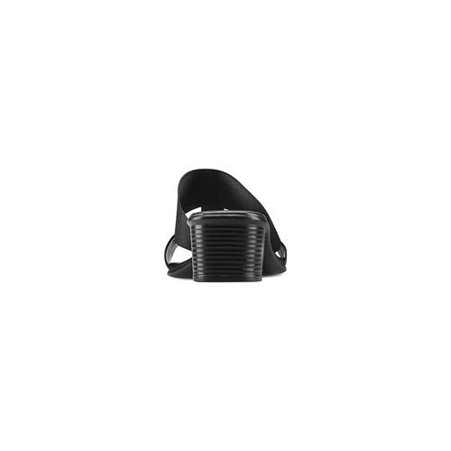 Ciabatte con tacco bata, nero, 671-6835 - 15