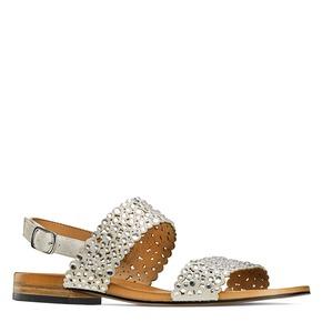 Sandali con strass bata, beige, 569-2256 - 13