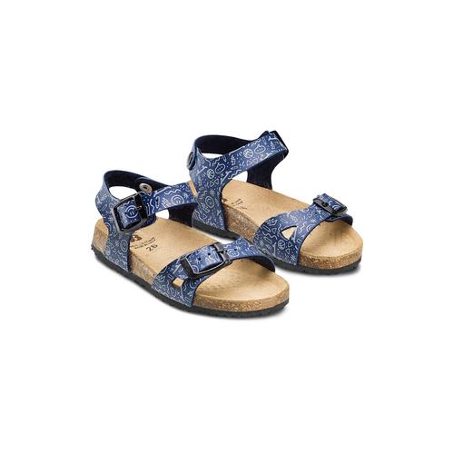 Sandali con stampa mini-b, blu, 261-9213 - 16