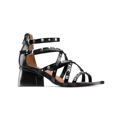 Sandali con borchie bata, nero, 664-6296 - 13