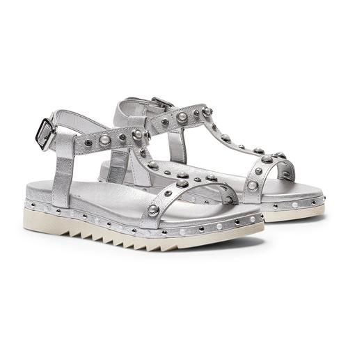Sandali con strass mini-b, argento, 361-1237 - 26