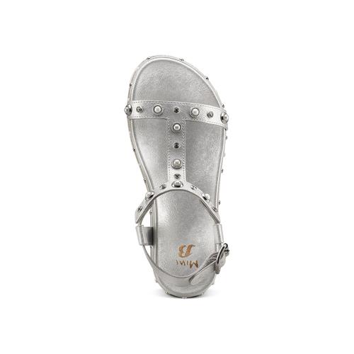 Sandali con strass mini-b, argento, 361-1237 - 17