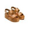 Sandali Platform bata, marrone, 664-3230 - 16