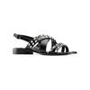Sandali con borchie bata, nero, 561-6245 - 13