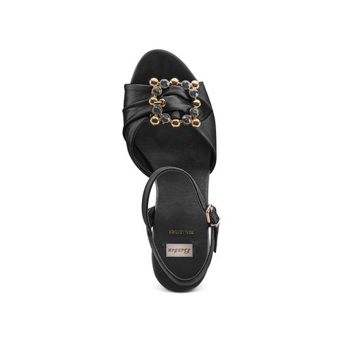 Sandali con applicazione bata, nero, 769-6237 - 17