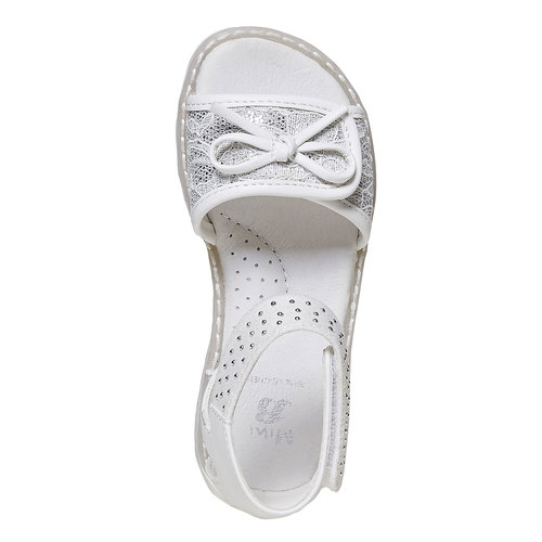 Sandali da ragazza con fiocco mini-b, 261-0177 - 19