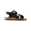Sandali in pelle bata, nero, 664-6150 - 13