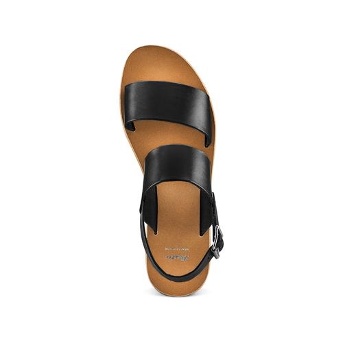 Sandali in pelle bata, nero, 664-6150 - 17