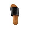 Ciabatte flat in pelle bata, nero, 564-6146 - 17