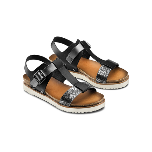 Sandali da donna bata, nero, 561-6295 - 16