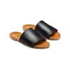Ciabatte flat in pelle bata, nero, 564-6146 - 16
