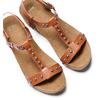 Sandali con zeppa bata, marrone, 661-3360 - 26