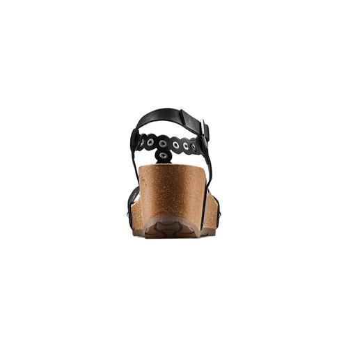 Sandali con applicazioni bata, nero, 661-6361 - 15