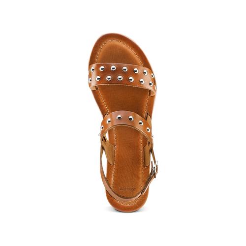 Sandali Flat bata, marrone, 564-3210 - 17