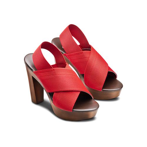 Sandali con tomaia elastica bata, rosso, 779-5110 - 16