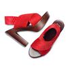 Sandali con tomaia elastica bata, rosso, 779-5110 - 26