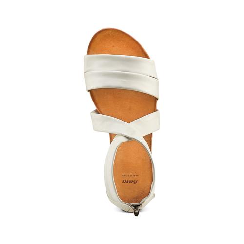 Sandali flat in pelle bata, bianco, 564-1327 - 17