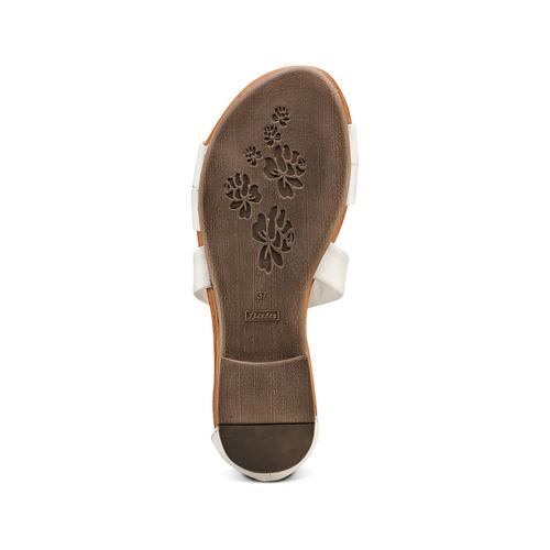 Sandali flat in pelle bata, bianco, 564-1327 - 19