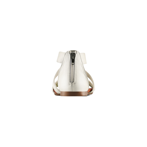 Sandali flat in pelle bata, bianco, 564-1327 - 15