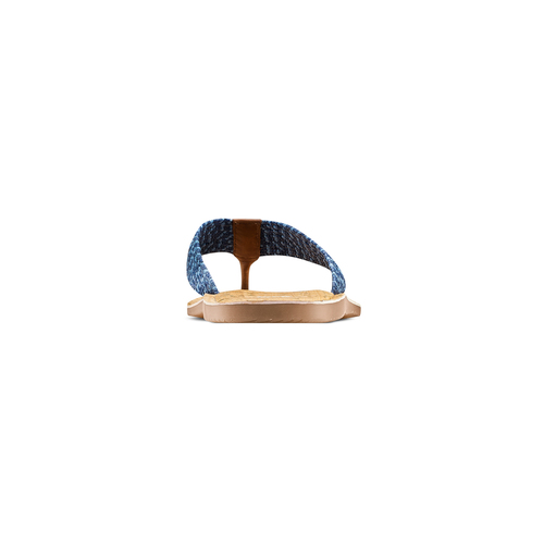 Infradito con motivo intrecciato bata, blu, 869-9112 - 15