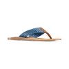 Infradito con motivo intrecciato bata, blu, 869-9112 - 13