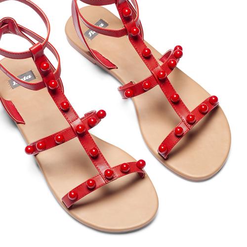 Sandali con doppio cinturino bata, rosso, 561-5542 - 26