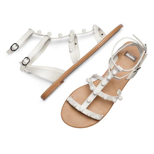 Sandali con doppio cinturino bata, bianco, 561-1542 - 26