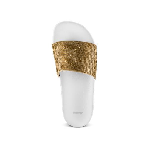 Ciabatte flat con strass bata, oro, 571-8191 - 17