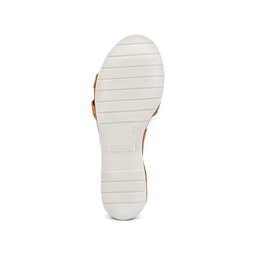 Sandali in vera pelle bata, marrone, 564-4525 - 19